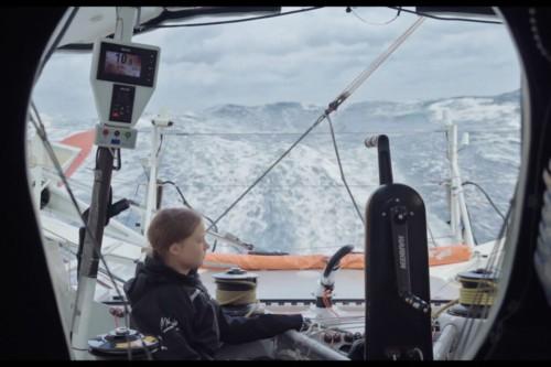Greta sullo yacht