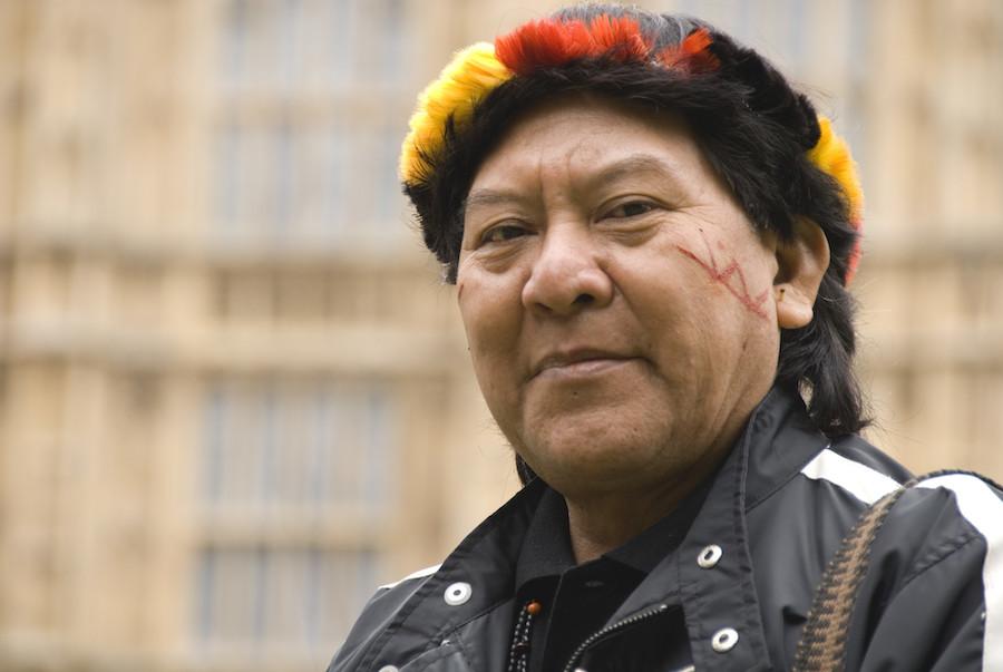 Davi Kopenawa vincitore del Premio Nobel Alternativo 2019 soprannominato il 'Dalai Lama della Foresta' per le sue azioni a tutela della foresta Amazzonica