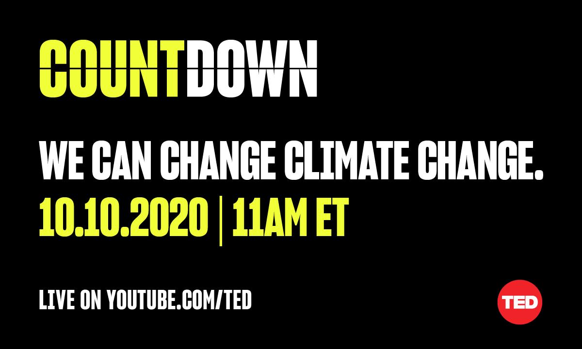TED Countdown idee innovative contro la crisi climatica