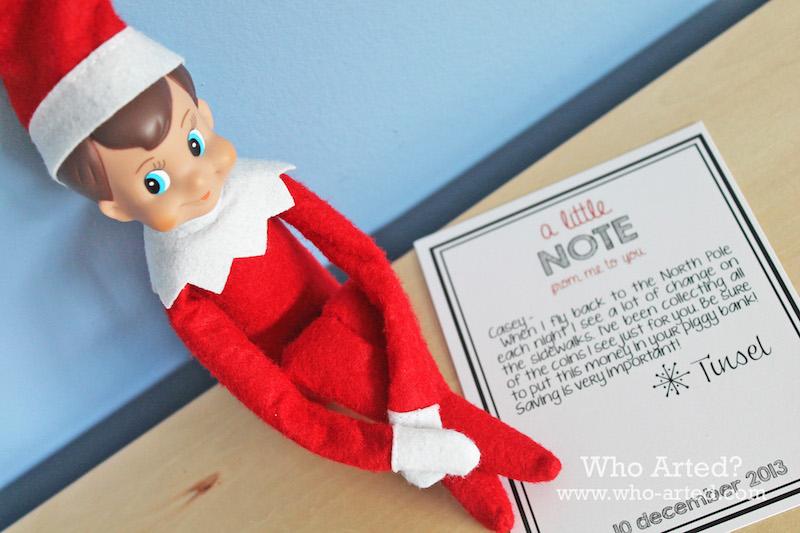 elf on the shelf lettera