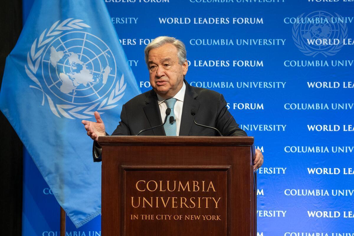 Guterres segretario generale ONU Nazioni Unite pace con la natura