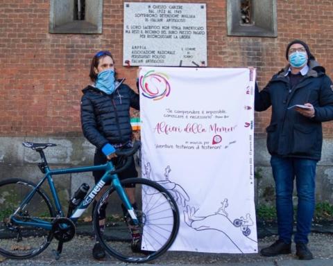 Giornata della Memoria 2021 Oliviero Alotto bicicletta