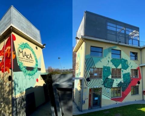 Le opere di arte urbana al Museo A Come Ambiente