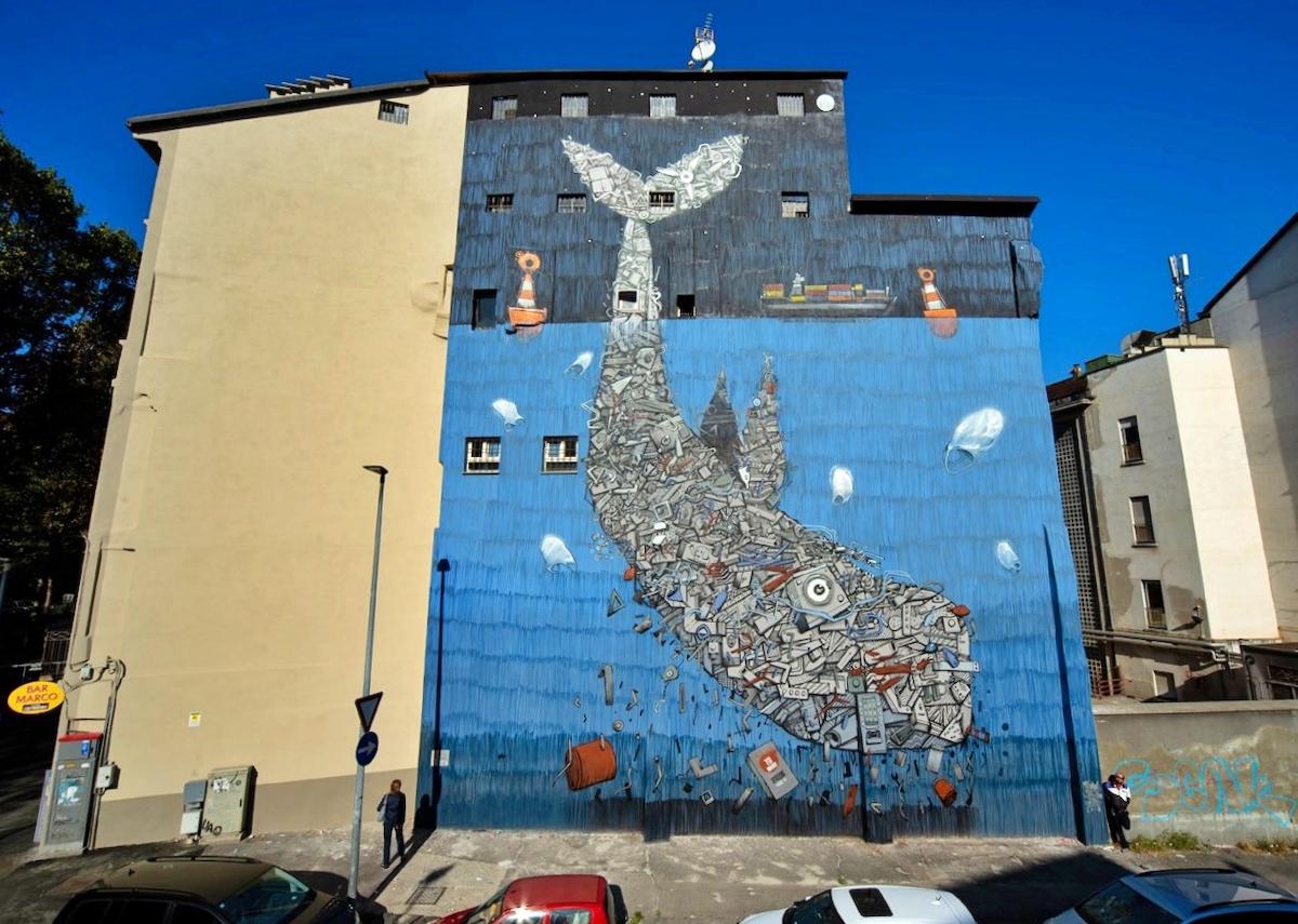 Giornata mondiale della Balena 2021 murales street art