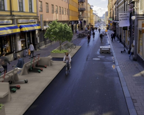 Rendering della one-minute city svedese
