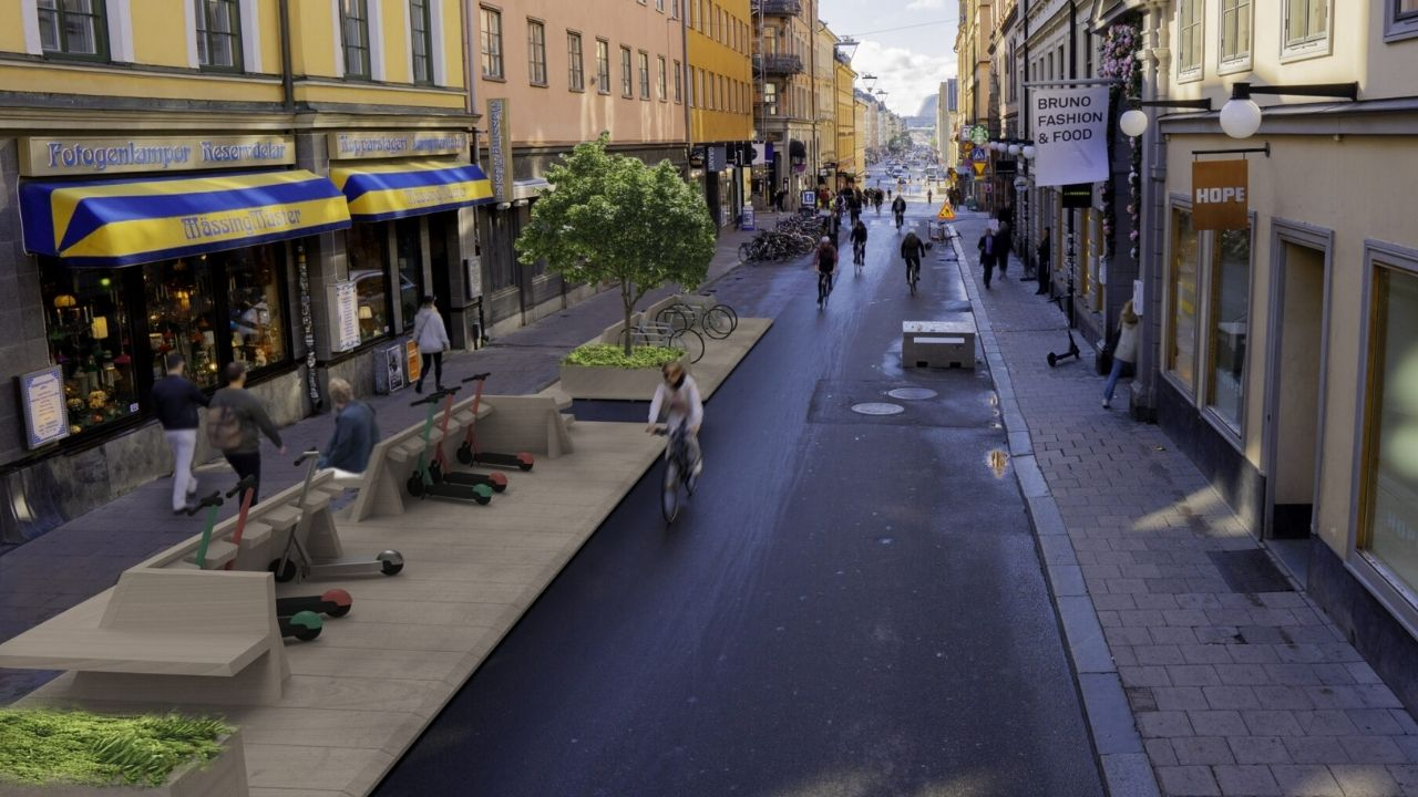 Rendering della one-minute city svedese