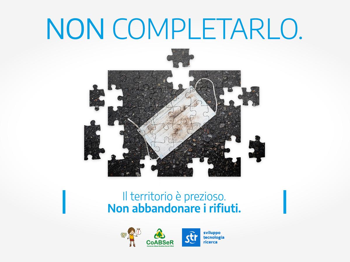 non completarlo campagna littering abbandono rifiuti