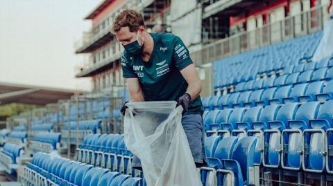 Sebastian Vettel rifiuti