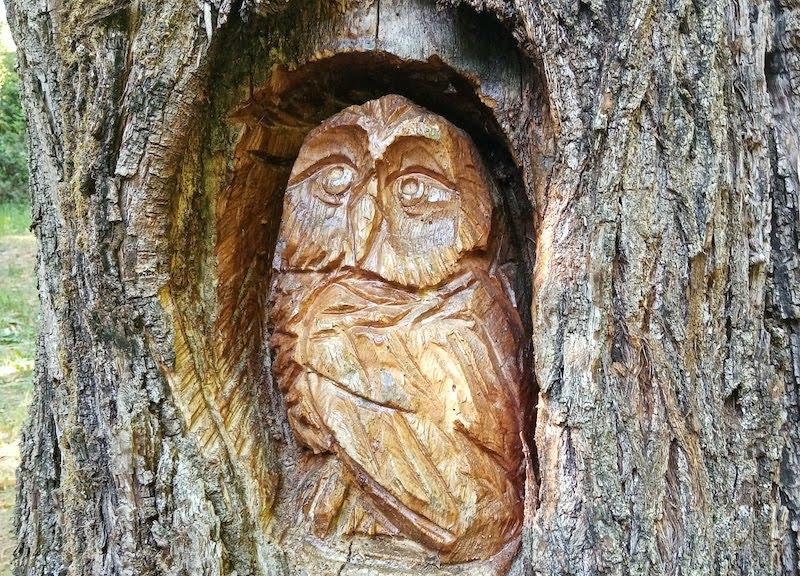 Le sculture in legno realizzate da Barba Brisiu