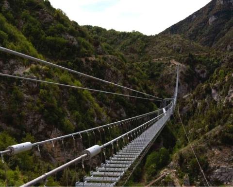 Il ponte tibetano di Castelsaraceno
