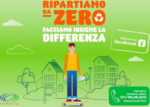 ripartiamo da zero campagna raccolta differenziata rifiuti Covar 14