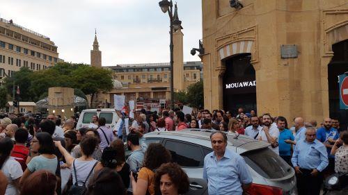 Manifestazione contro l'apertura di inceneritori a Beirut nel 2018