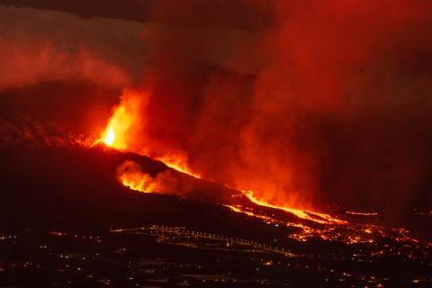 eruzione del vulcano di la palma
