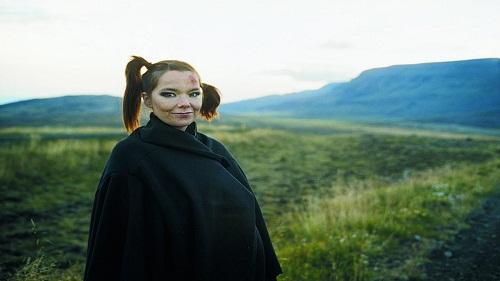 Björk e il fantastico panorama naturale dell'Islanda