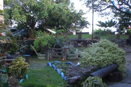 Scorcio del giardino della Igreja da Trindade (Salvador)