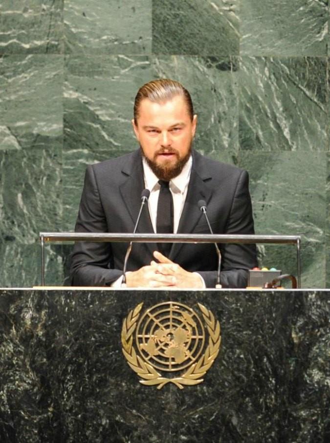 Leonardo Di Caprio alle Nazioni Unite