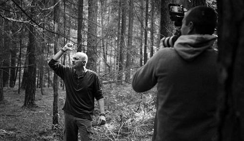 """Giuseppe Festa durante le registrazioni del video della canzone """"Occhi d'Ambra"""""""