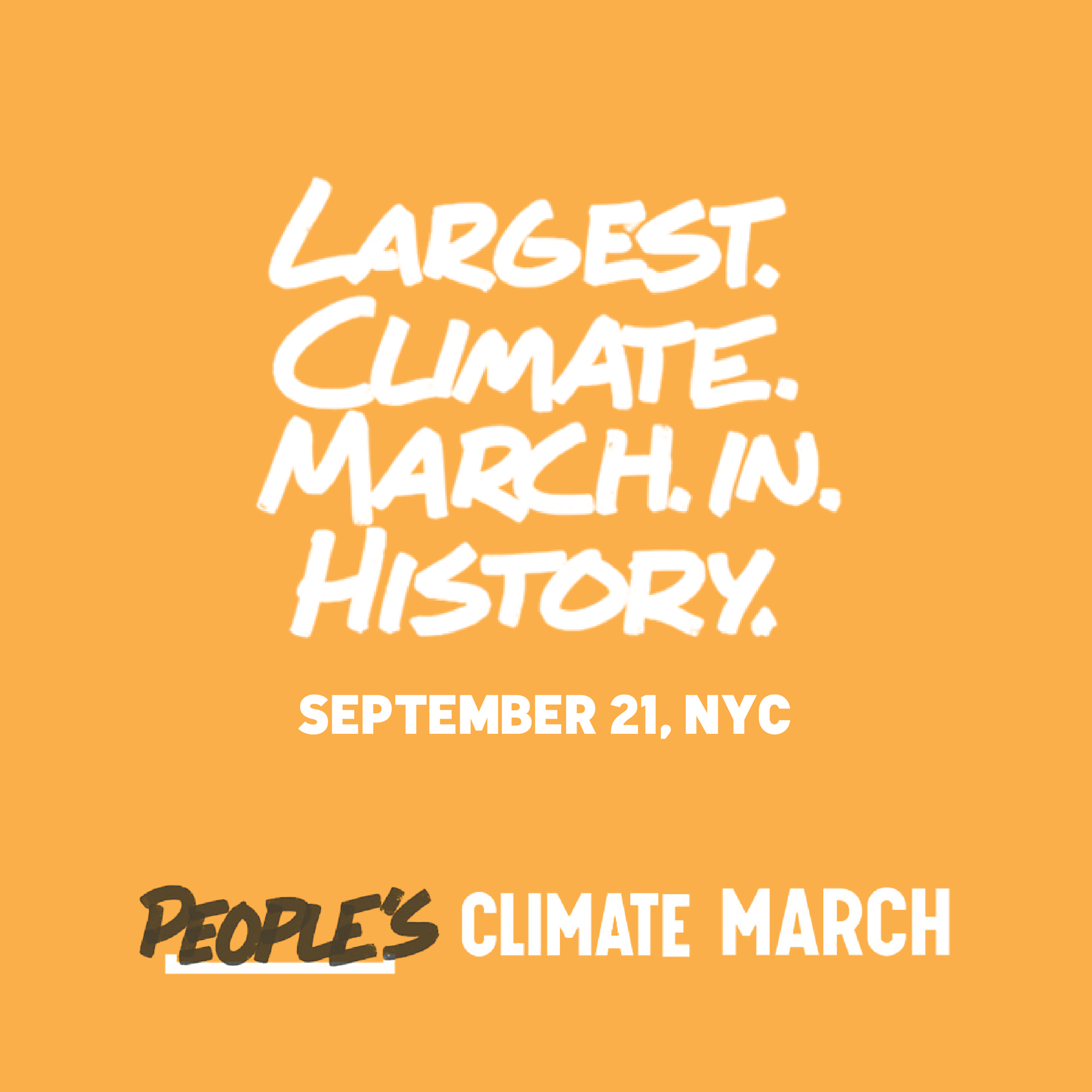 Largest climate march in history