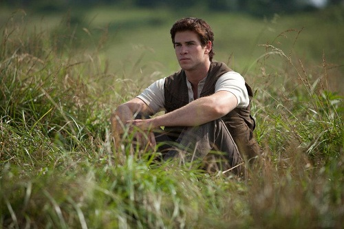 Liam Hemsworth sul set di Hunger Games
