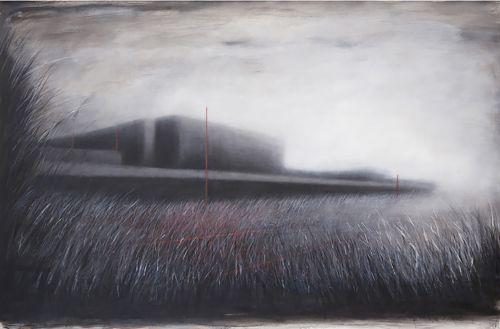 Ernesto Morales_Tempelhof airport-2009-olio su tela-cm100x150