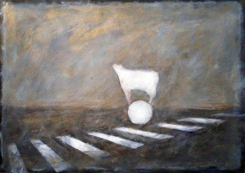Ernesto Morales_ Traces of memory - 2015 - oil on paper - cm50x70