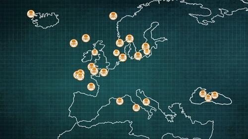 Una mappa delle aree contaminate