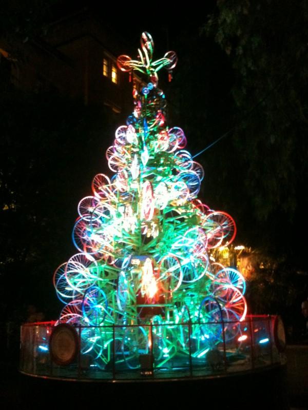 bicycle christmas tree sidney