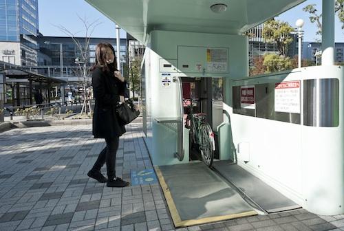 Underground Bicycle Parking In Japan