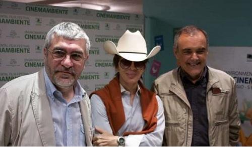 Gaetano Capizzi, Michael Cimino e Alberto Barbera al 14mo Festival CinemAmbiente