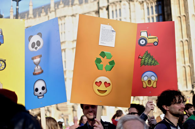 People's Climate March di Londra  7 marzo scorso