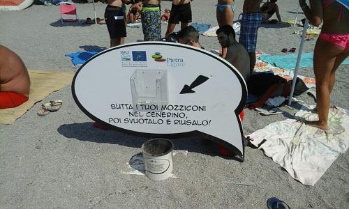 Fumetto, spiaggia parlante di Pietra Ligure - Foto: envi.info