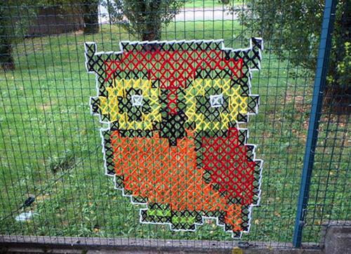 Urban Cross Stitch: gufo