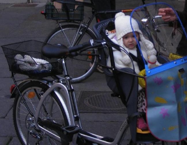 in bici inverno