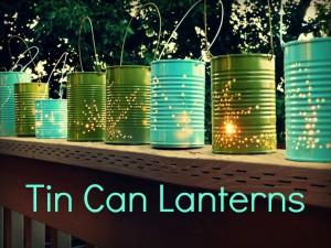 lanterne fai da te con lattina vuota