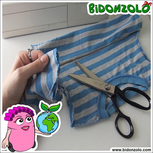 creare una borsa da una maglietta