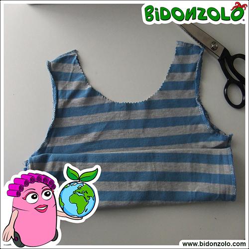 creare una borsa da una T-Shirt