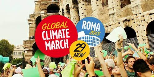Giornata mondiale del clima 2015 marcia per il clima roma