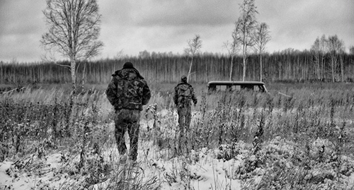 men in the winter