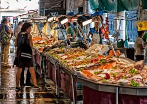 Mercato del pesce a Venezia