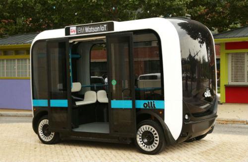 Olli il bus stampato in 3D