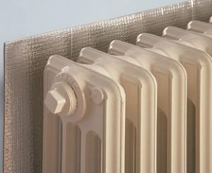 rsiparmiare sul riscaldamento: pannello termoriflettente