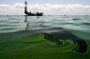 Perdite di petrolio di una piattaforma