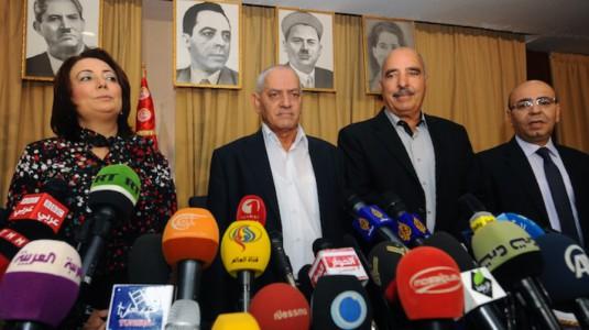 I rappresentanti delle associazioni tunisine del Quartetto per il dialogo