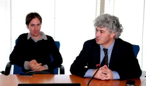 """Nell'immagine i due corridori protagonisti di """"Pulisci e Corri"""". Da sinistra Oliviero Alotto e Roberto Cavallo"""