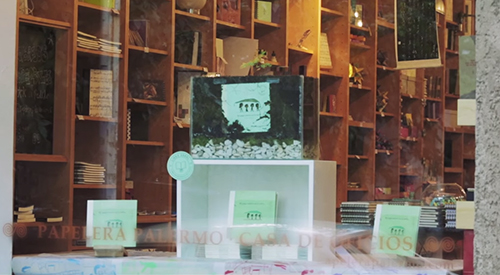 vetrina con libro