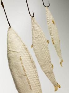 yarn bombing: knitted fish